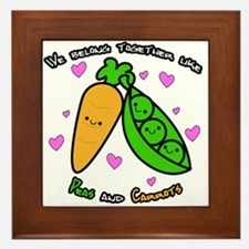 Peas and Carrots Framed Tile
