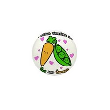 Peas and Carrots Mini Button