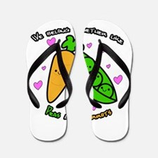 Peas and Carrots Flip Flops