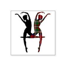 """Miss Tartan Dancer Square Sticker 3"""" x 3"""""""
