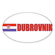 Dubrovnik, Croatia Oval Decal