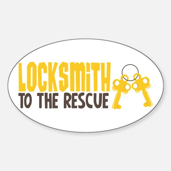 Locksmith To The Rescue Decal