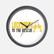 Locksmith To The Rescue Wall Clock