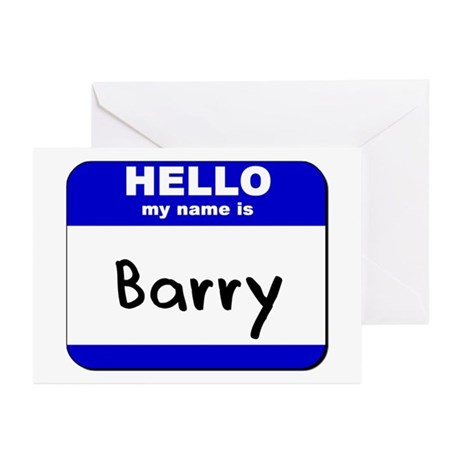 hello my name is barry Greeting Cards (Package of