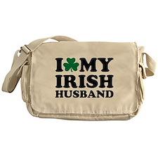 I love my irish husband shamrock Messenger Bag