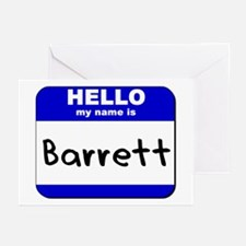 hello my name is barrett  Greeting Cards (Package