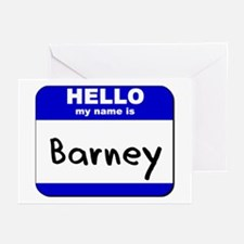 hello my name is barney  Greeting Cards (Package o