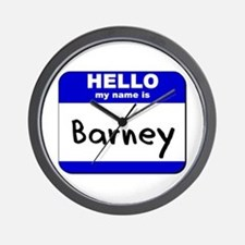 hello my name is barney  Wall Clock