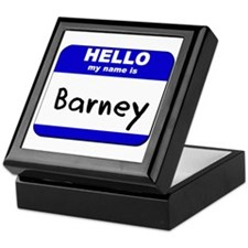 hello my name is barney Keepsake Box