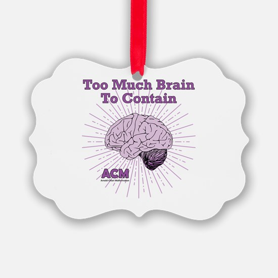 Too Much Brain To Contain Ornament