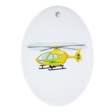 Helicopter Ornament (Oval)