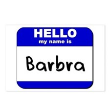 hello my name is barbra  Postcards (Package of 8)