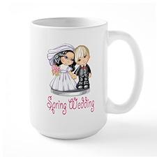 Spring Wedding Cake Dolls Mug