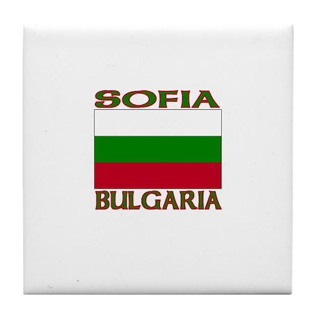 Sofia, Bulgaria Tile Coaster