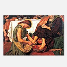 Jesus Washing Peter's Fee Postcards (Package of 8)