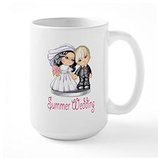 Summer Wedding Cake Dolls Mug