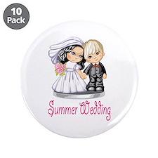 """Summer Wedding Cake Dolls 3.5"""" Button (10 pack)"""