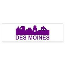 Des Moines Iowa Bumper Bumper Sticker