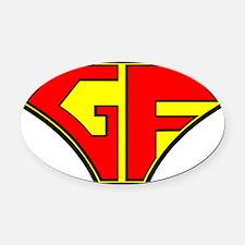 Super Gluten Free Oval Car Magnet