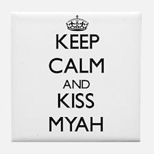 Keep Calm and kiss Myah Tile Coaster