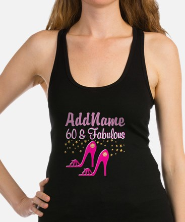 60TH PINK SHOES Racerback Tank Top