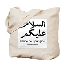 Peace be upon you Arabic Tote Bag