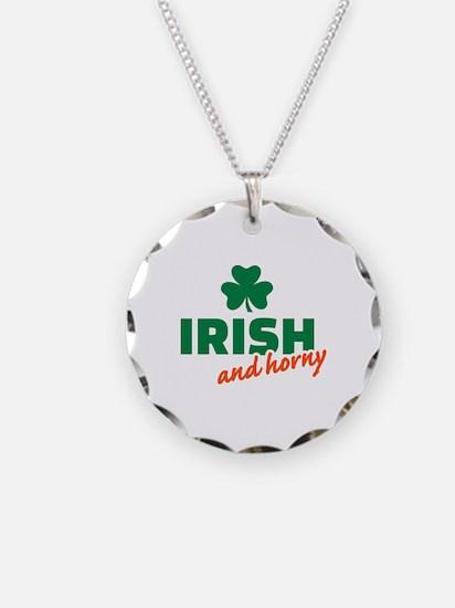 Irish and horny shamrock Necklace