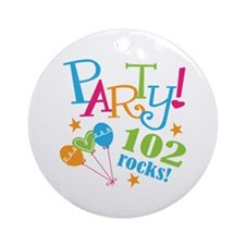 102nd Birthday Party Ornament (Round)