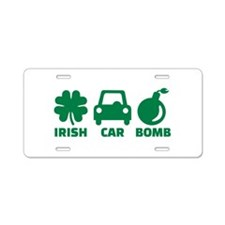 Irish car bomb Aluminum License Plate