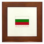 Bulgaria Flag (Dark) Framed Tile