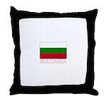 Bulgaria Flag (Dark) Throw Pillow