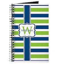 Personalized Stripe Monogram Journal