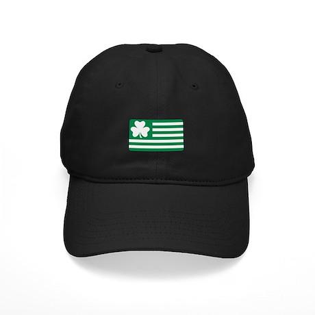 Irish Shamrock flag Black Cap
