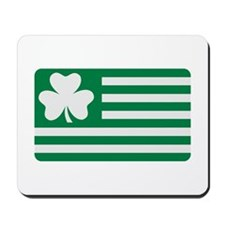 Irish Shamrock flag Mousepad