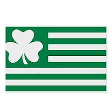 Irish Shamrock flag Postcards (Package of 8)