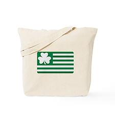 Irish Shamrock flag Tote Bag