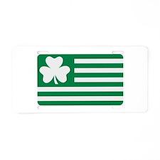 Irish Shamrock flag Aluminum License Plate