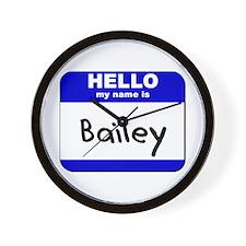 hello my name is bailey  Wall Clock
