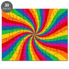 Rainbow Twist Stripes Puzzle