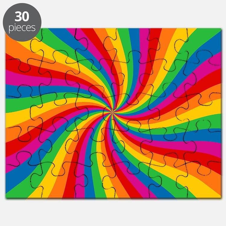 Rainbow Twist Stripes Puzzle