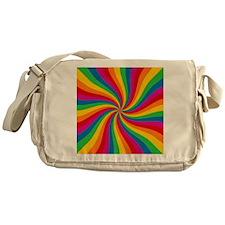 Rainbow Twist Stripes Messenger Bag