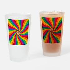 Rainbow Twist Stripes Drinking Glass