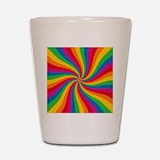 Rainbow Twist Stripes Shot Glass