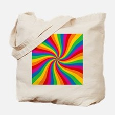Rainbow Twist Stripes Tote Bag