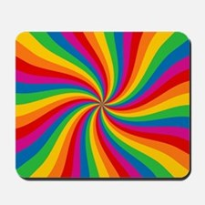 Rainbow Twist Stripes Mousepad