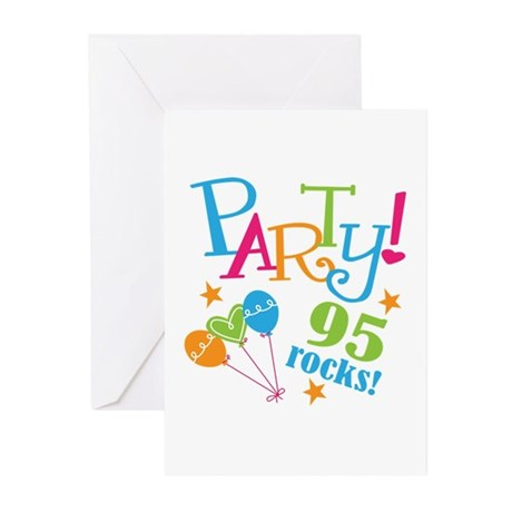 95th Birthday Party Greeting Cards (Pk of 20)