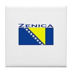 Zenica, Bosnia Tile Coaster