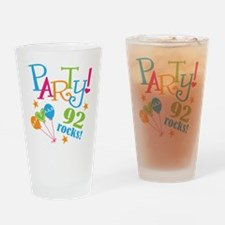92nd Birthday Party Drinking Glass