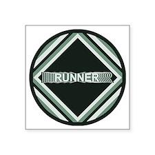 """Runner Repeats Square Sticker 3"""" x 3"""""""