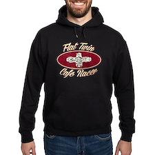 Flat Twin Cafe racer logo Hoodie